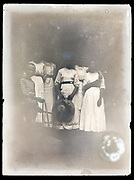 extreme fading family group portrait France ca 1910s