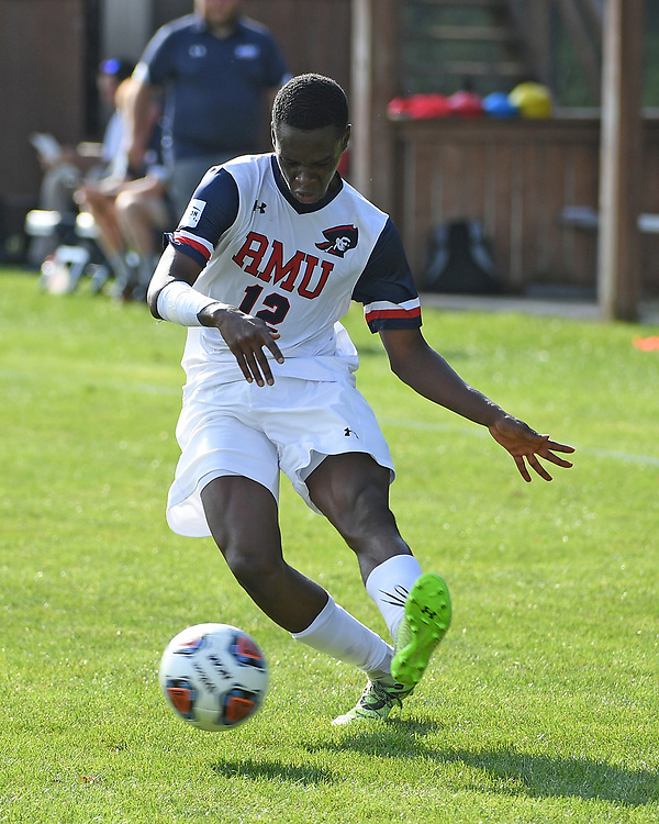 Robert Morris Men's Soccer takes on West Virginia University at the North Athletic Complex on Thursday August 26, 2021 (Photo by Justin Berl/Robert Morris Athletics)