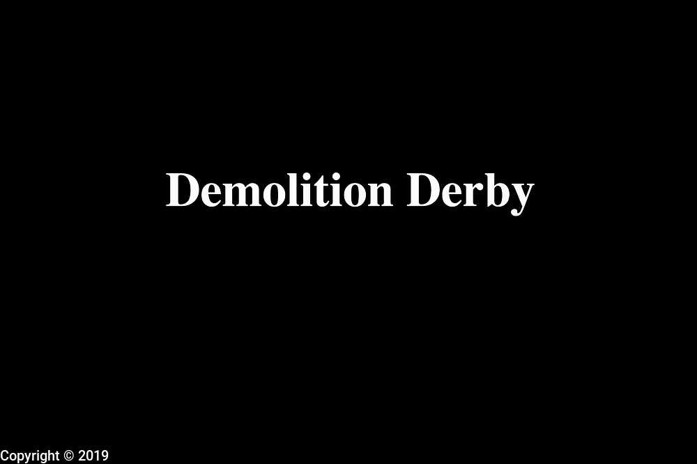 The demolition derby is an annual ritual on, Friday and Saturday nights, the last days of the Monroe County fair, in Bloomington, Indiana. Members of the community modify cars to be crashed into one another until the last car still running is declared the winner.