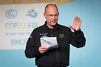 DEUTSCHLAND - BONN - Bertrand Piccard; spricht an der Präsentation der 'World Alliance for Efficient Solutions' der Solar Impulse Foundation, auf der Klimakonferenz COP 23 Fiji in Bonn - 14. November 2017 © Raphael Hünerfauth - http://huenerfauth.ch