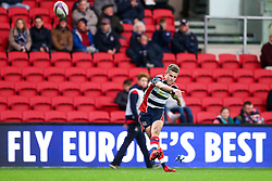 Billy Searle of Bristol Rugby kicks a conversion - Rogan Thomson/JMP - 11/12/2016 - RUGBY UNION - Ashton Gate Stadium - Bristol, England - Bristol Rugby v Pau - European Rugby Challenge Cup.