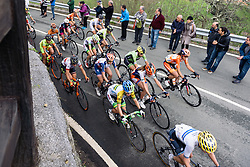 Leaders speed up the climb - Emakumeen Saria - Durango-Durango 2016. A 113km road race starting and finishing in Durango, Spain on 12th April 2016.