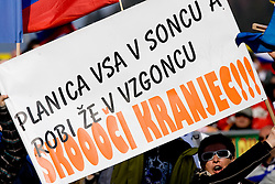 Fans of Robert Kranjec during Flying Hill Individual First Round at 2nd day of FIS Ski Flying World Championships Planica 2010, on March 19, 2010, Planica, Slovenia.  (Photo by Vid Ponikvar / Sportida)
