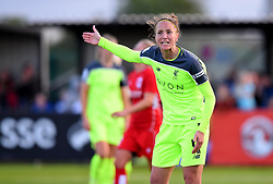 Casey Stoney of Liverpool Ladies vents her frustration  towards the assistant referee - Mandatory by-line: Paul Knight/JMP - 20/05/2017 - FOOTBALL - Stoke Gifford Stadium - Bristol, England - Bristol City Women v Liverpool Ladies - FA Women's Super League Spring Series