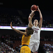 Breanna Stewart, UConn, shoots two during the UConn Huskies Vs East Carolina Pirates Quarter Final match at the  2016 American Athletic Conference Championships. Mohegan Sun Arena, Uncasville, Connecticut, USA. 5th March 2016. Photo Tim Clayton