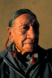 Portrait of Elderly American Indian Man at Taos Pueblo
