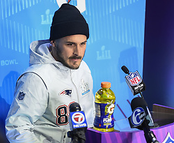 January 29, 2018 - Minneapolis, Minnesota, U.S - New England Patriots wide receiver DANNY AMENDOLA appears at Super Bowl LII Opening Night at the Xcel Energy Center in St. Paul, Minnesota. (Credit Image: © Craig Lassig via ZUMA Wire)