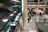 The AeroTrain sysem  at Dulles International Airport brings travelers from thw main terminal to the plane.  Photograph by Dennis Brack