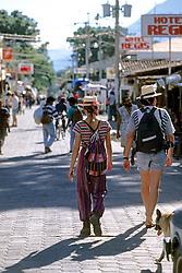 Tourists In Panajachel Market