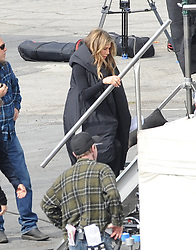 """Busy week for Jennifer Aniston as the actress was spotted filming """"The Morning Show"""" in downtown Los Angeles. Just a day ago the actress was on another set on a reshoots for """"Murder Mystery"""". 21 Mar 2019 Pictured: Jennifer Aniston. Photo credit: Pikachu / MEGA TheMegaAgency.com +1 888 505 6342"""