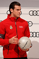 Garet Bale participates and receives new Audi during the presentation of Real Madrid's new cars made by Audi in Madrid. December 01, 2014. (ALTERPHOTOS/Caro Marin)