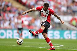 Southampton's Charlie Austin attempts a shot on goal