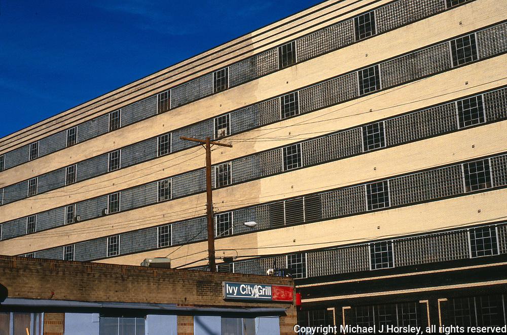 Fenwick and Okie Street NE, Washington DC, 1988<br /> Hecht Co. Warehouse