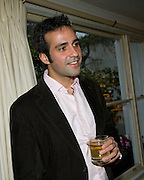 AATISH TASEER, Aatish Taseer  book launch party for his new book Stranger To History. Travel book asks what it means to be a Muslim in the 21st century. Hosted by Gillon Aitken. Kensington, London. 30 March 2009