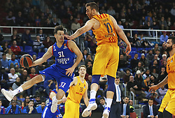 January 19, 2017 - Barcelona, Catalonia, Spain - Thomas Heurtel and Victor Claver during the match between FC Barcelona and Anadolu Efes, corresponding to the week 17 of the Euroleague, on 19 January  2017. (Credit Image: © Joanvalls/NurPhoto via ZUMA Press)