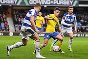 Leeds United Midfielder Jamie Shackleton (46) in action during the The FA Cup match between Queens Park Rangers and Leeds United at the Loftus Road Stadium, London, England on 6 January 2019.