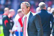 Lee Bowyer of Charlton Athletic (Manager) during the EFL Sky Bet League 1 play off first leg match between Doncaster Rovers and Charlton Athletic at the Keepmoat Stadium, Doncaster, England on 12 May 2019.