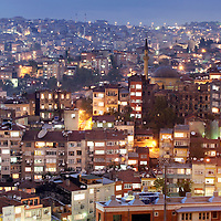 Istanbul, Turkey 04 May 2006<br /> View of the west side of Istanbul at night. Istanbul, historically Byzantium and later Constantinople, is Turkey's most populous city and its cultural and financial center.<br /> Photo: Ezequiel Scagnetti