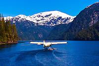A floatplane taking off in Misty Fjords National Monument, near Ketchikan, southeast Alaska, USA