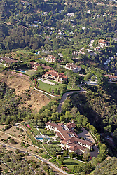 Prince Harry and Meghan Markle have reportedly been staying in an ultra-luxury Beverly Hills mansion that belongs to Tyler Perry, Perry's eight-bedroom, 12-bathroom Tuscan-style villa sits on the top of a hill in the exclusive Beverly Ridge Estates gated community. Dozen's of A list celebrities live just walking distance from the 22-acre property include Adele, Ashton Kutcher, Mila Kunis, Nicole Richie, Cameron Diaz, Nicole Kidman, Jennifer Lawence and Katy Perry. 07 May 2020 Pictured: Tyler Perry house with Hidden Valley the Celebrity Enclave in the background. Photo credit: MEGA TheMegaAgency.com +1 888 505 6342
