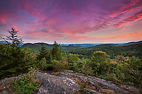 Sunset over the central Green Mtns., Libby's Lookout, West Bolton, Vermont