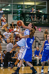 16 June 2012: Ashley Walker defended by Faith Wendte. Illinois Basketball Coaches Association (IBCA) Girls All Star game at the Shirk Center in Bloomington IL