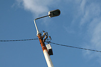 Rusty lamp post in Dublin Ireland