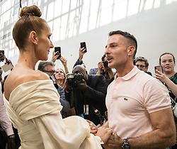 July 2, 2019 - Paris, France - Celine Dion and Alexandre Vauthier Backstage. Paris Fashion Week. Haute Couture....242486 2019-07-02  Paris France.. Dion, Céline; Vauthier, Alexandre (Credit Image: © Jude Photography/Starface via ZUMA Press)