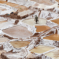 The Salinas de Maras ponds were already used by the Incas, if not earlier.