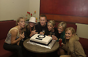 Anna Walker, Tamsin Outhwaithe, Lee Chapman, Lesley Ashe,  Jenni Falconer ( from breakfst T.V. ) and Terry Dyer.  Teatro 4 th birthday. 27 Feb 2002. © Copyright Photograph by Dafydd Jones 66 Stockwell Park Rd. London SW9 0DA Tel 020 7733 0108 www.dafjones.com