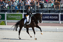 Philippa Johnson Dwyer, (RSA), Verdi - Freestyle Test Grade IV Para Dressage - Alltech FEI World Equestrian Games™ 2014 - Normandy, France.<br /> © Hippo Foto Team - Leanjo de Koster<br /> 25/06/14