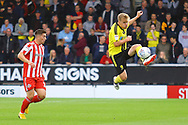 Burton Albion defender Damien McCrory (14) clears the danger during the EFL Sky Bet League 1 match between Burton Albion and Sunderland at the Pirelli Stadium, Burton upon Trent, England on 15 September 2018.