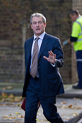 © Licensed to London News Pictures. 16/10/2012. LONDON, UK. Owen Paterson, the Environment Secretary, is seen on Downing Street in London for today's (16/10/2012) meeting of David Cameron's cabinet. Photo credit: Matt Cetti-Roberts/LNP