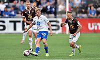 Fotball, 1. september  2019 , Eliteserien , Mjøndalen - Molde 1-3<br /> Erling Knutzon , Molde <br /> Tonny Brochmann , MIF<br /> Quint Jansen , MIF