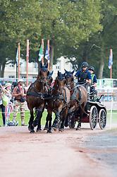 Fredrik Persson, (SWE), Arctic Horn, Corfy, Radazzo, Samba Girl, Satir - Driving Marathon - Alltech FEI World Equestrian Games™ 2014 - Normandy, France.<br /> © Hippo Foto Team - Jon Stroud<br /> 06/09/2014