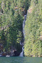 Waterfall, Ross Lake, Ross Lake National Recreation Area, North Cascades, Washington, August 2013
