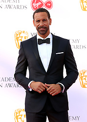 Rio Ferdinand attending the Virgin TV British Academy Television Awards 2018 held at the Royal Festival Hall, Southbank Centre, London. PRESS ASSOCIATION Photo. Picture date: Sunday May 13, 2018. See PA story SHOWBIZ Bafta. Photo credit should read: Isabel Infantes/PA Wire
