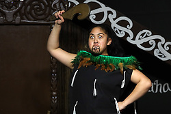 June 15, 2018 - Christchurch, New Zealand - A traditional Maori dancer performs to celebrate Matariki at Willowbank Wildlife Reserve in Christchurch, New Zealand. Matariki signals the New Year of New Zealand's indigenous Maori population. (Credit Image: © Sanka Vidanagama/NurPhoto via ZUMA Press)