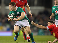 Paddy Jackson of Ireland during the 2016 Guinness Series  autumn international rugby match, Ireland v Canada at the Aviva Stadium in Dublin, Ireland on Saturday 12th November 2016.<br /> pic by  John Halas, Andrew Orchard sports photography.
