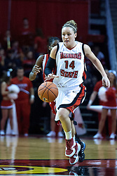 04 December 2009: Amanda Clifton. The Huskies of Northern Illinois University fall to the Redbirds of Illinois State University by a score of 85-57 on Doug Collins Court in Redbird Arena in Normal Illinois.
