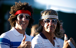 Spectators on day One of the Wimbledon Championships at the All England Lawn Tennis and Croquet Club, Wimbledon.