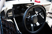 May 20, 2017: NASCAR Monster Energy All Star Race. Interior and steering wheel of a NASCAR stock car