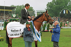 Beerbaum Ludger (GER) - Ratina Z and Melchior Leon<br /> CHIO Aachen 1999<br /> © Hippo Foto - Dirk Caremans