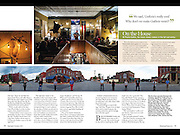 Inside pages I photographed for a story about the renaissance of Guthrie and its growth into a much bigger town. For Sept/Oct 2014 Oklahoma Today