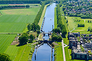 Nederland, Noord-Brabant, Den Bosch, 13-05-2019; Sluis van Engelen,  Gekanaliseerde Dieze (Kanaal Henriettewaard). Ten Noorden van Den Bosch, omgeving Crèvecoeur. <br /> Engelen lock, Canalized Dieze (Canal Henriettewaard). North of Den Bosch, near Crèvecoeur.<br /> <br /> aerial photo (additional fee required); luchtfoto (toeslag op standard tarieven); copyright foto/photo Siebe Swart