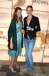 Left to right, MICHELE BAROUH and model JODIE KIDD  at Michele Watches Kaleidoscope Summer Garden Party held at Home House, Portman Square, London on 15th June 2005.<br />
