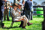 27 March 2010 : An older couple enjoys sunshine and some down time in the paddock before the 5th race.
