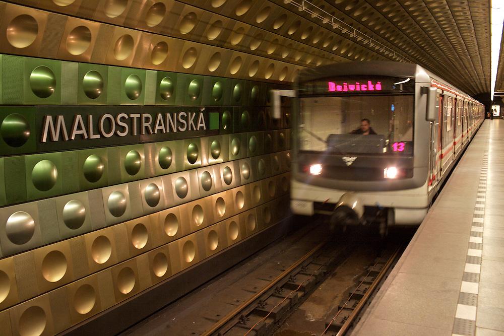 07/Febrero/2008 República Checa. Praga.Estación de Malostranska en el Metro de Praga..©JOAN COSTA