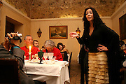 """Raquel Tavares performing at """"Bacalhau de Molho"""" restaurant. She is one of the young generation of fado singers and players that renewed the music scene in during the last years."""