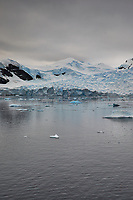 Panorama of Paradise Harbor and Brown Station (Estación Científica Almirante Brown) in Antarctica from the Deck of the Hurtigruten MS Fram. (3 of 16) Image taken with a Fuji X-T1 camera and Zeiss 32 mm f/1.8 lens (ISO 200, 32 mm, f/16, 1/500 sec). Raw images processed with Capture One Pro, Focus Magic, Photoshop CC 2015, and AutoPano Giga Pro